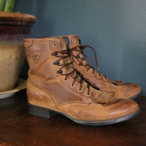 "Ariat women's ""Kiltie"" Heritage lace up ropers"